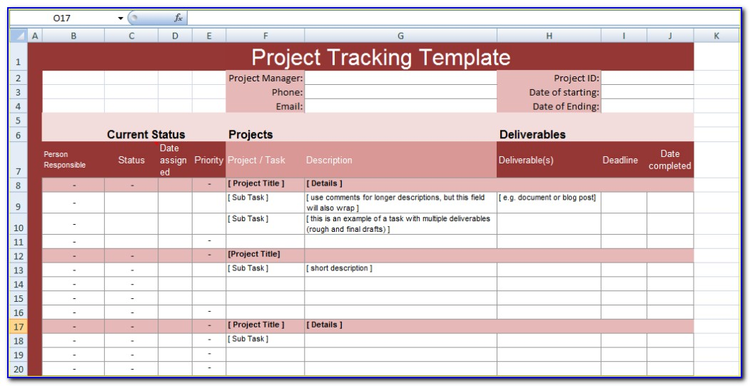 Excel Project Timeline Template Free