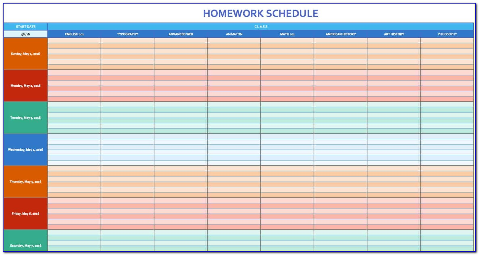 Excel Spreadsheet Project Management Template