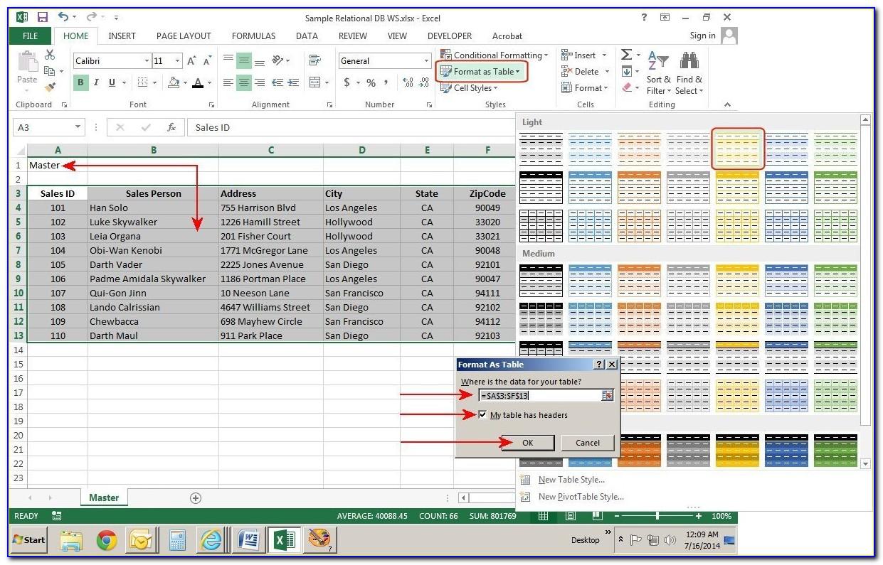 Excel Spreadsheet Template Customer Database