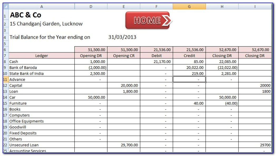 Excel Template Accounting Small Business