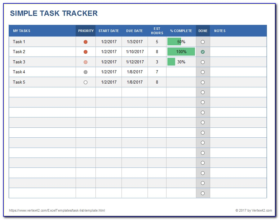 Excel Template Client Database