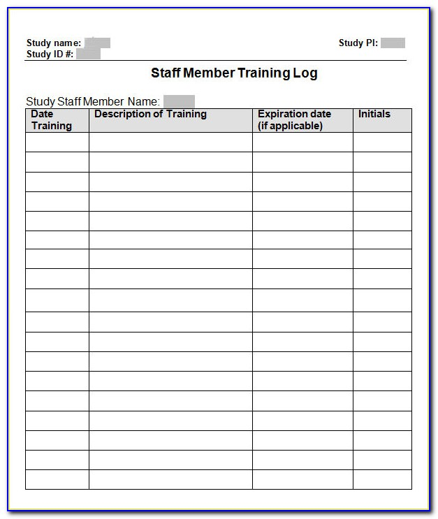 Excel Template Training Calendar