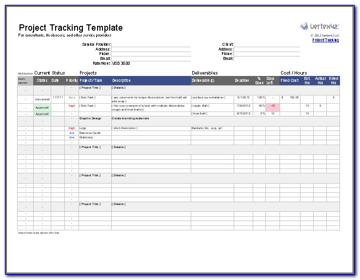 Excel Templates For Client Database