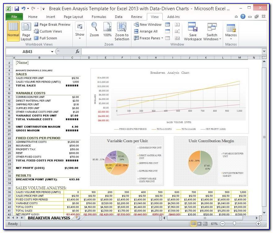 Excel Templates Sales Analysis