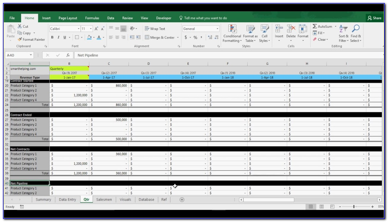 Excel Templates Sales Tracking