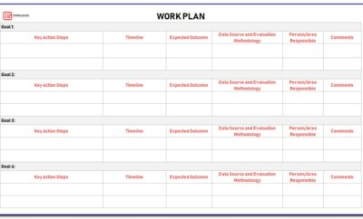 Excel Work Planner Template