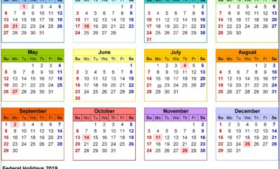 Excel Work Schedule Template 2019