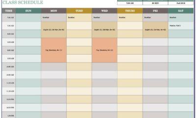 Excel Work Schedule Template Download
