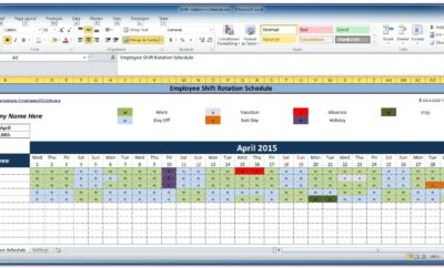 Excel Work Schedule Template Weekly