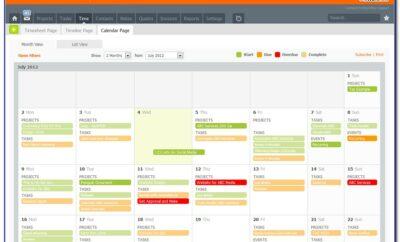 Excel Workflow Calendar Template