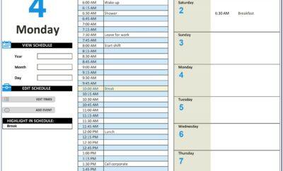 Excel Workflow Schedule Template