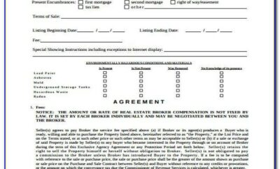 Exclusive Agency Agreement Template Free