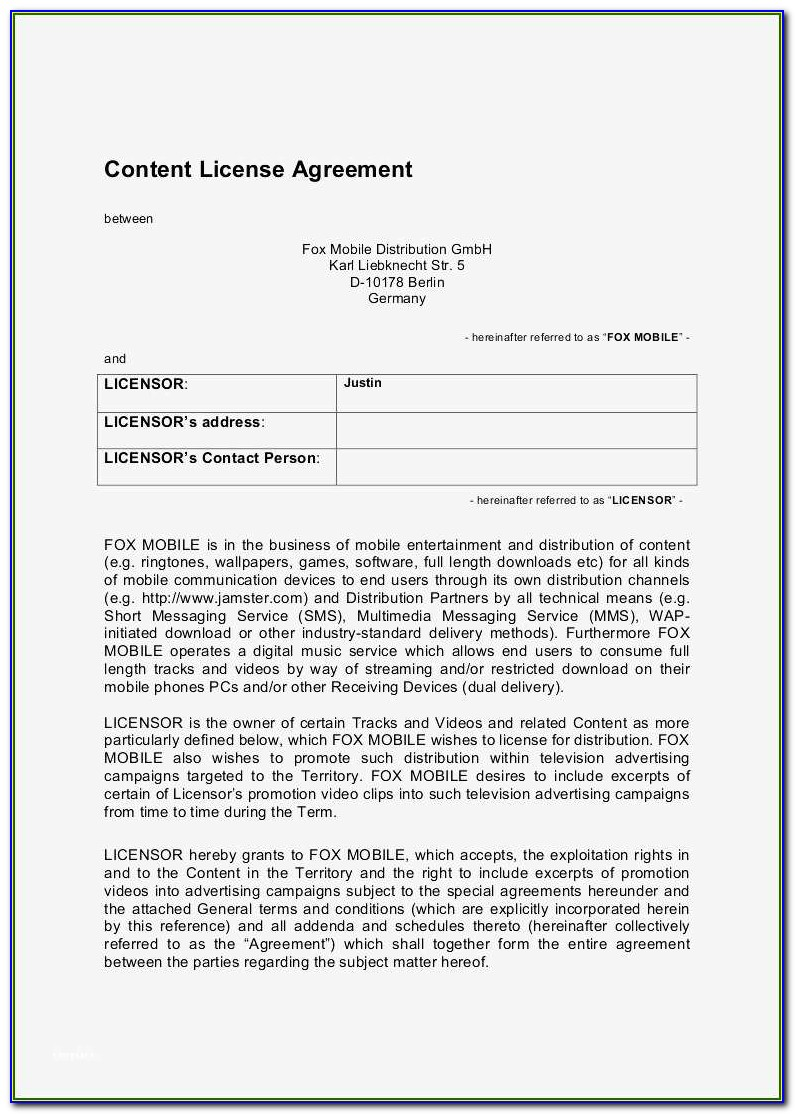 Exclusive Distribution Agreement Template Canada