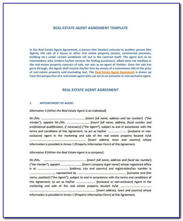 Exclusive Sales Contract Template