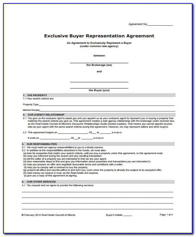 Exclusive Sales Representative Agreement Template