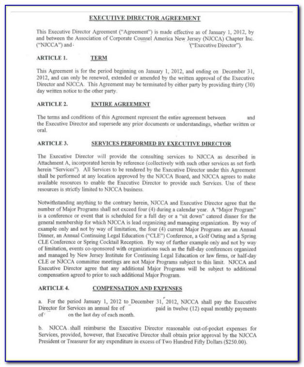 Executive Employment Contract Template Ontario