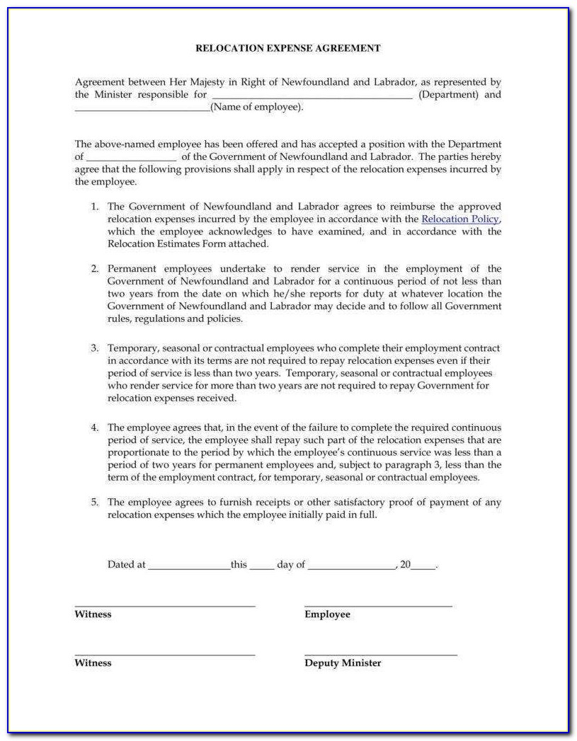 Expense Reimbursement Agreement Template