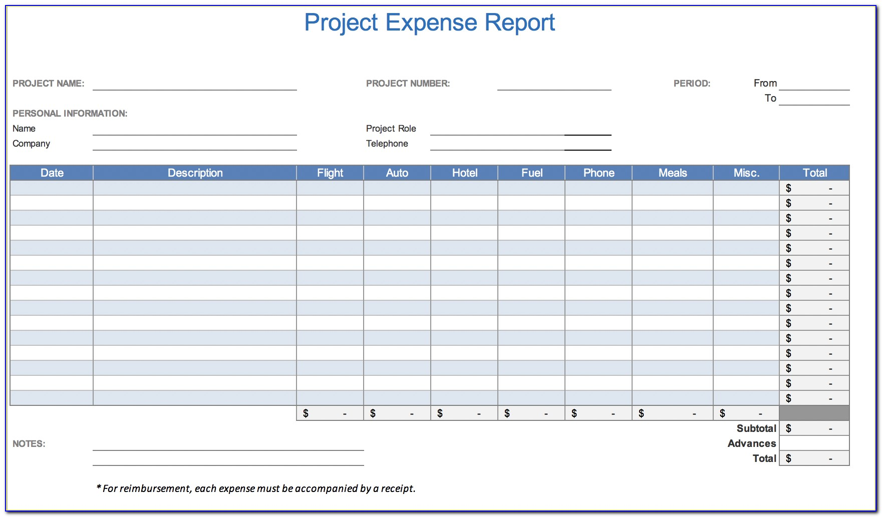 Expense Report Forms For Mac