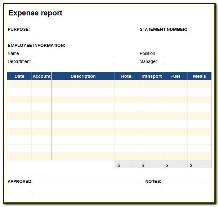Expense Report Template In Oracle Payables