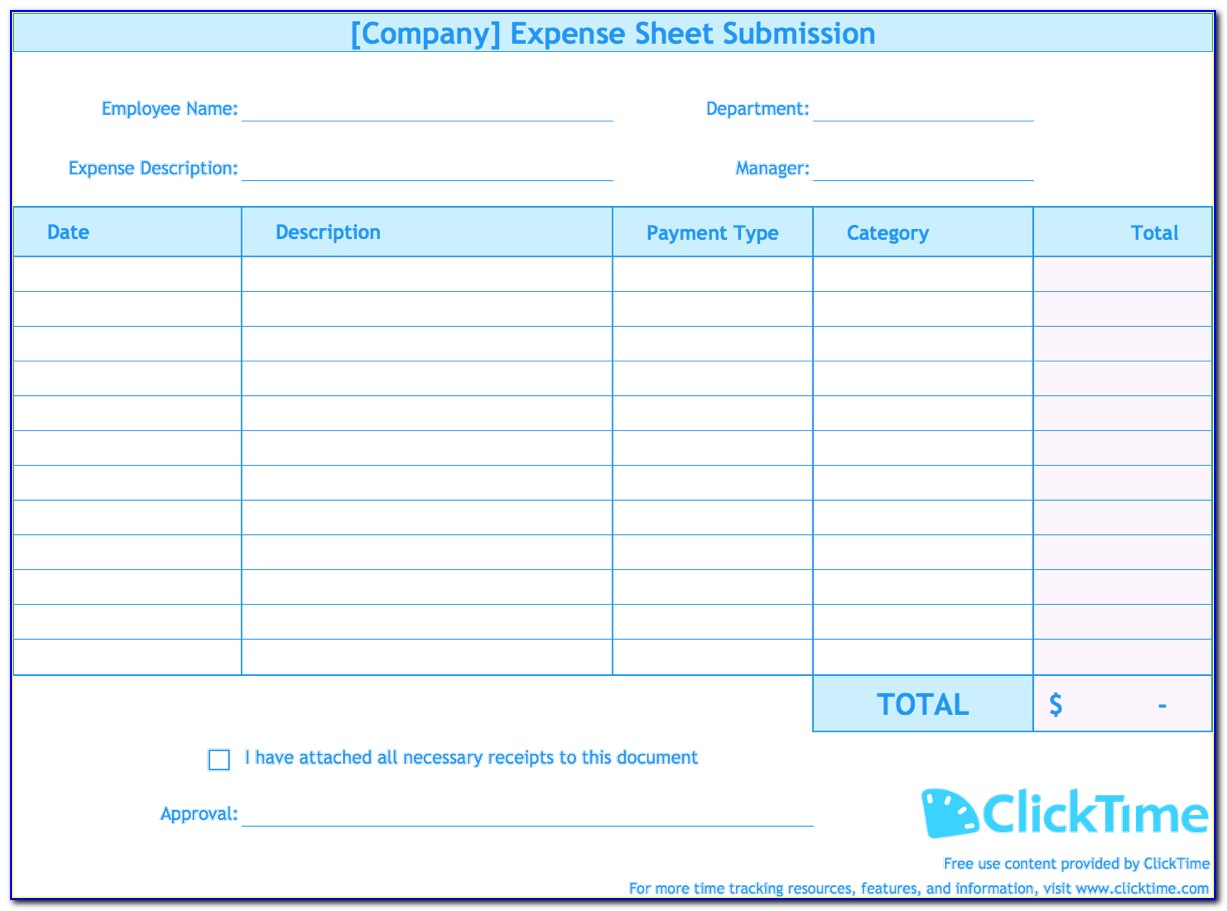 Expense Report Templates Excel 2007