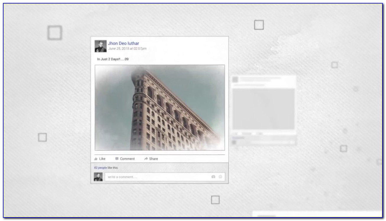 Facebook Timeline After Effects Template Download
