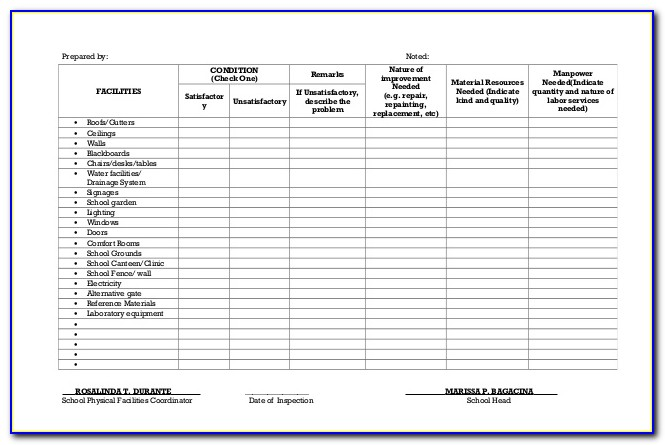 Facility Condition Assessment Template