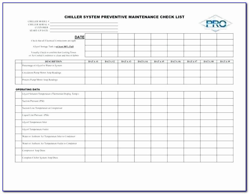 Facility Maintenance Plan Example