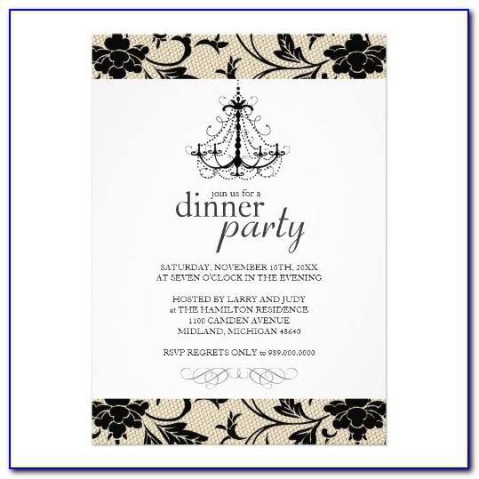 Fancy Dinner Invitation Wording