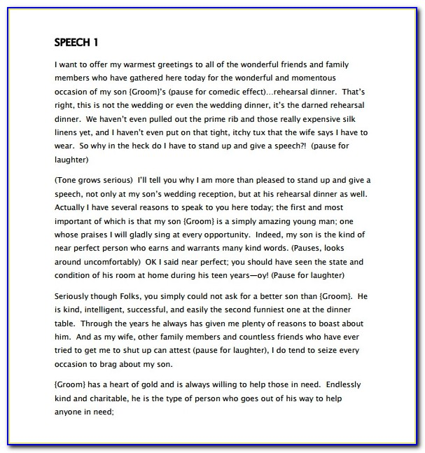 Father Of The Bride Speech Examples Funny