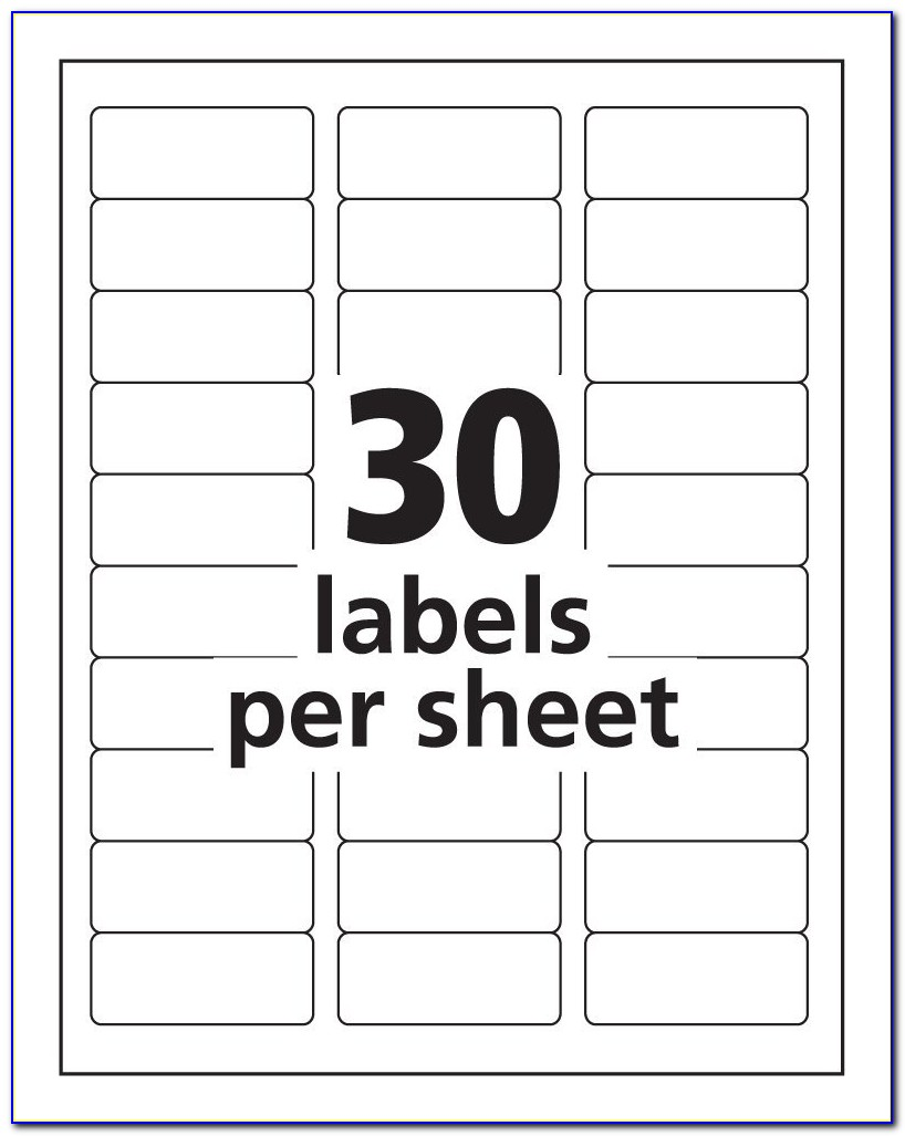 File Folder Labels 30 Per Sheet Template