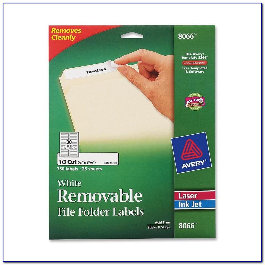 File Folder Labels Template 5366