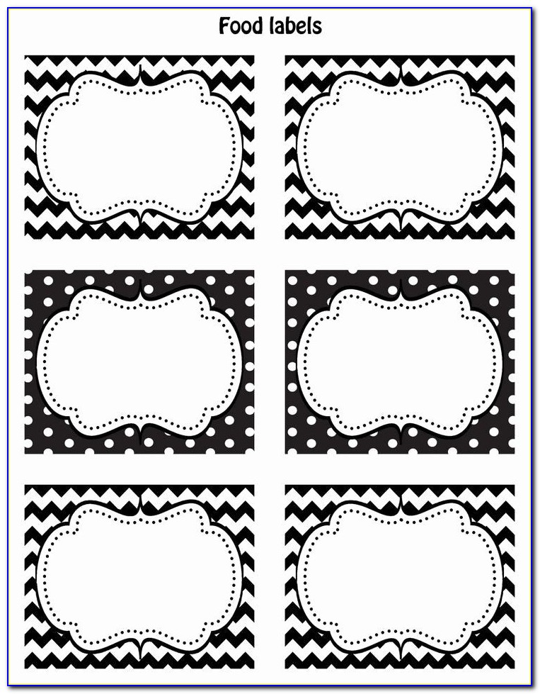 Filing Cabinet Drawer Labels Template