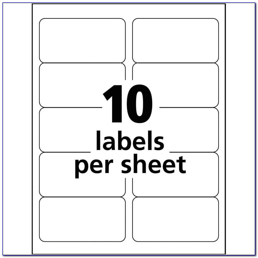 Filing Label 30 Per Sheet Template