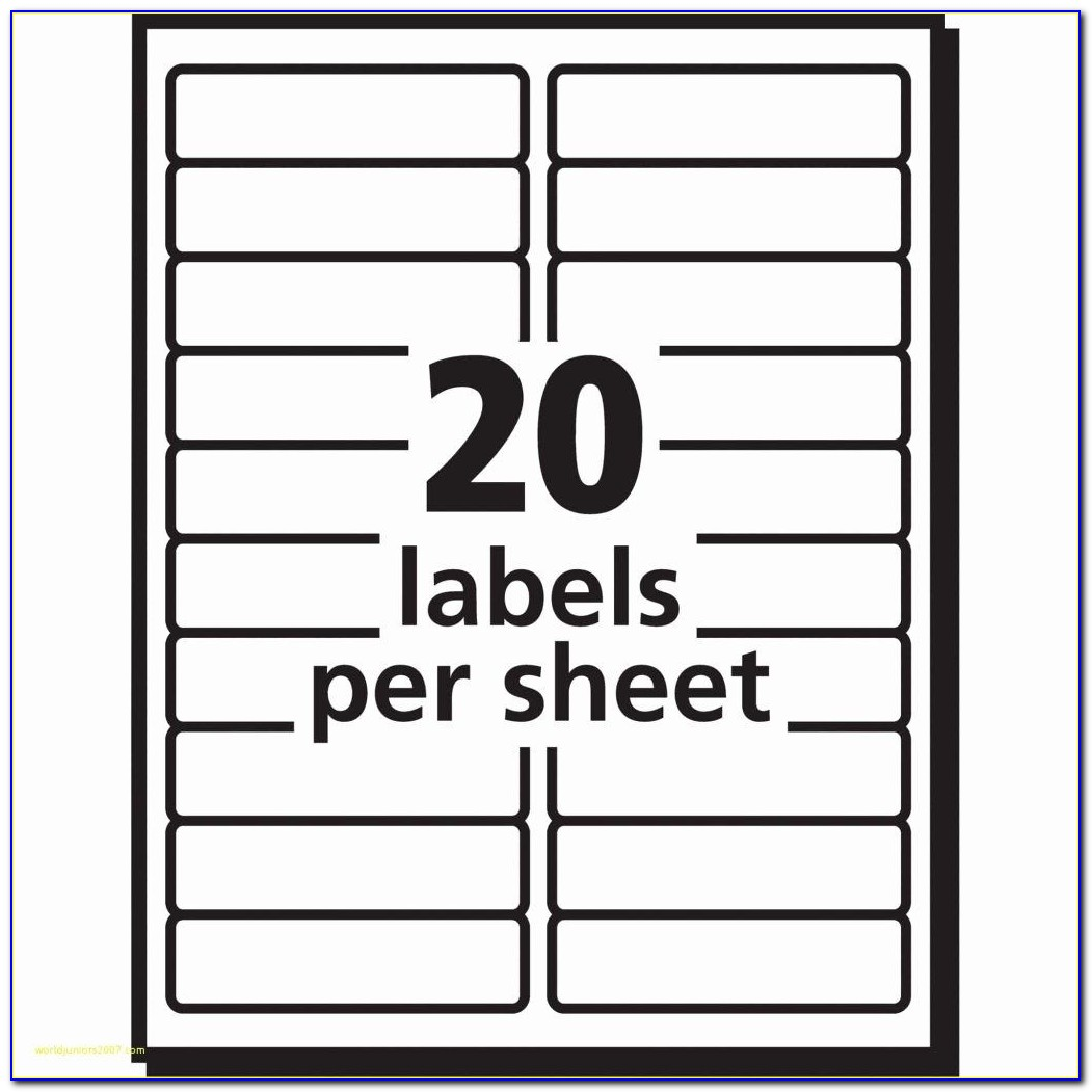 Filing Label Template 30 Per Sheet