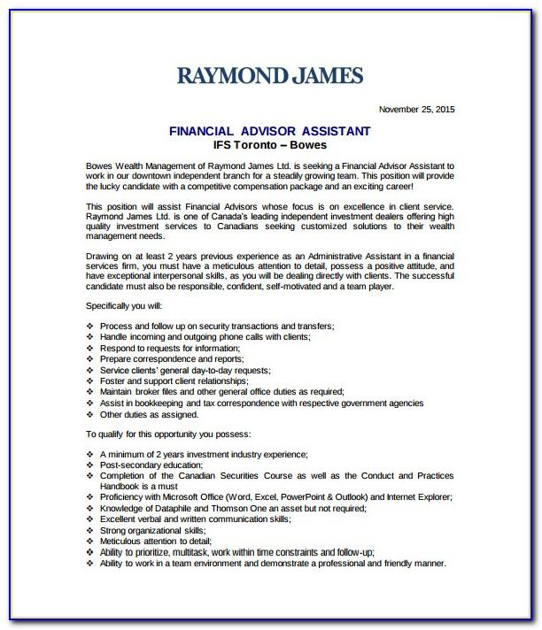 Financial Advisor Resume Objective Sample