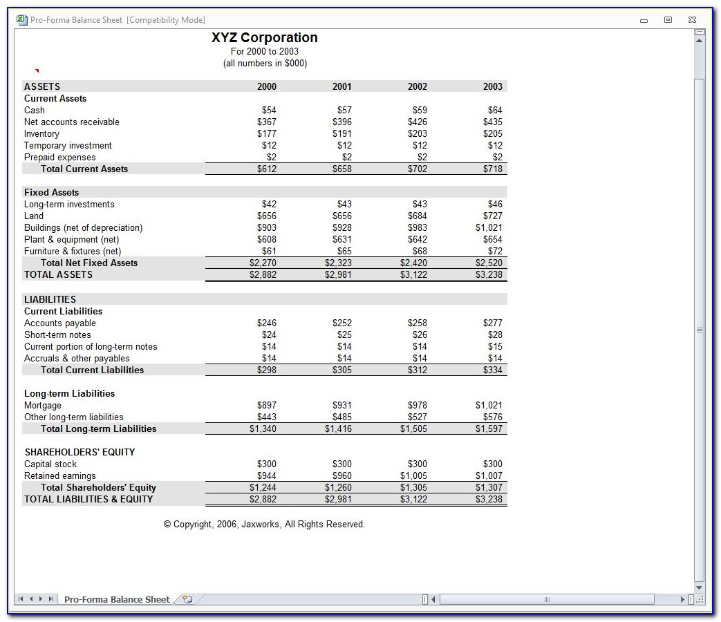 Financial Reports Examples Excel