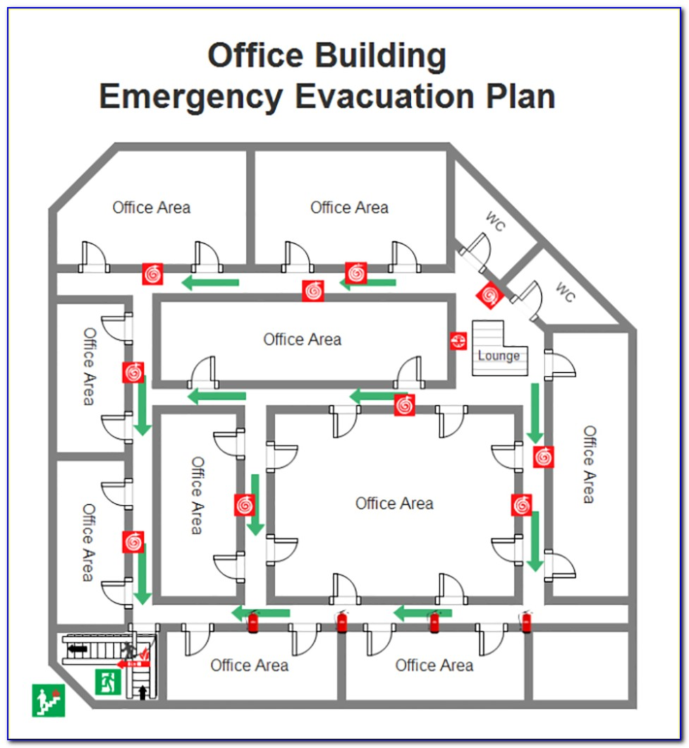Fire Emergency Evacuation Plan And The Fire Procedure Template