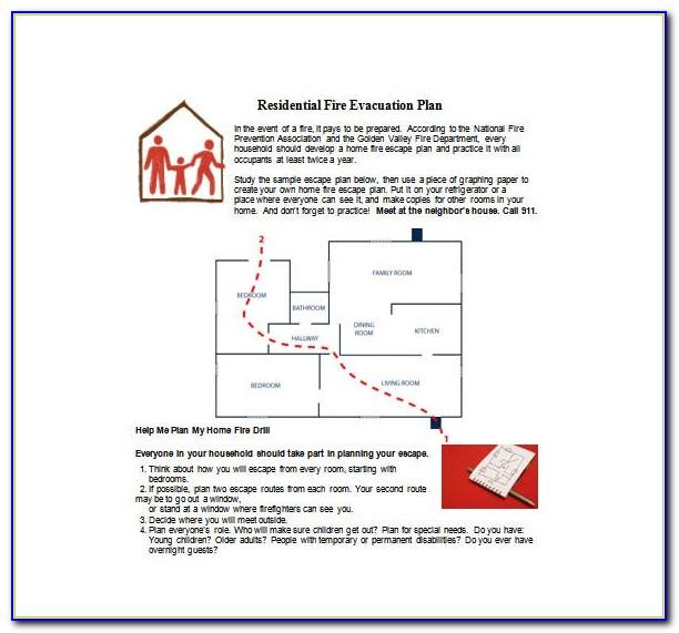 Fire Emergency Response Plan Template