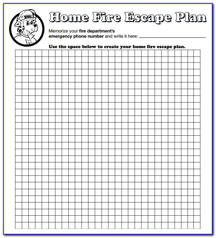 Fire Escape Plan Template For Childminders