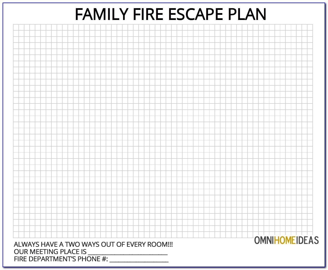 Fire Escape Plan Template Free