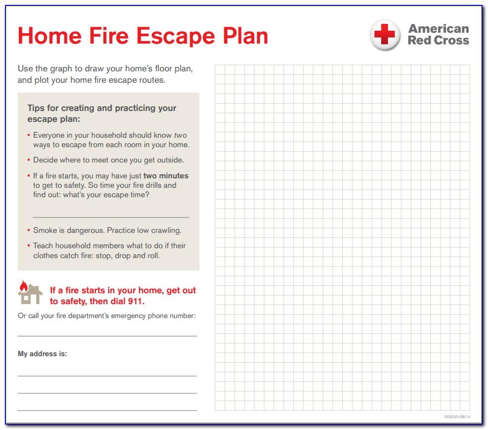Fire Escape Plan Template Uk