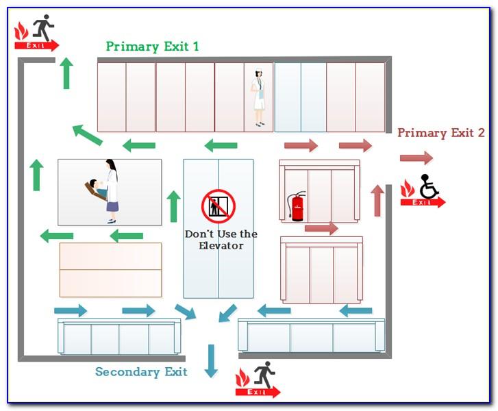 Fire Evacuation Map Template Free