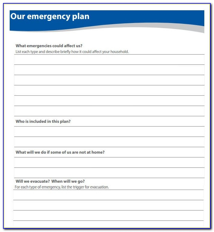 Fire Evacuation Plan Example Childminders