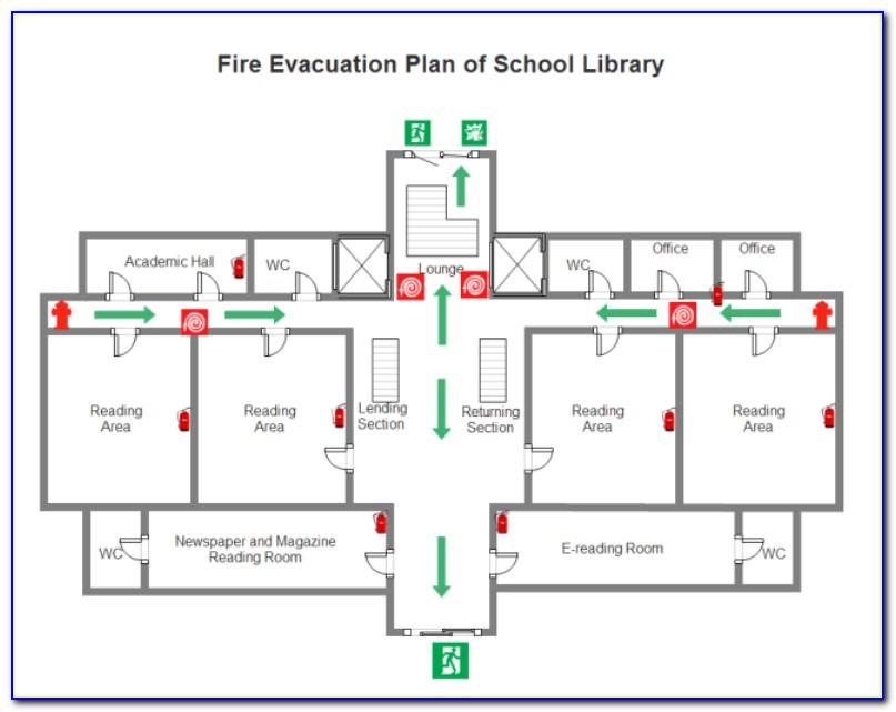 Fire Evacuation Plan Map Template