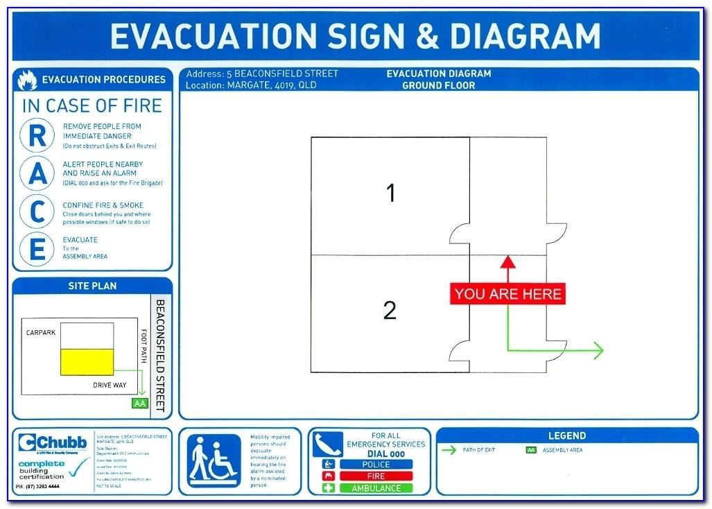 Fire Evacuation Plan Template Free