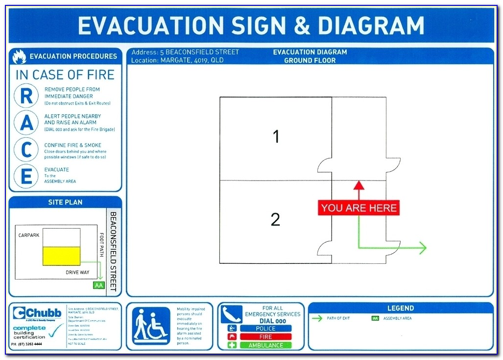 Fire Exit Plan Sample
