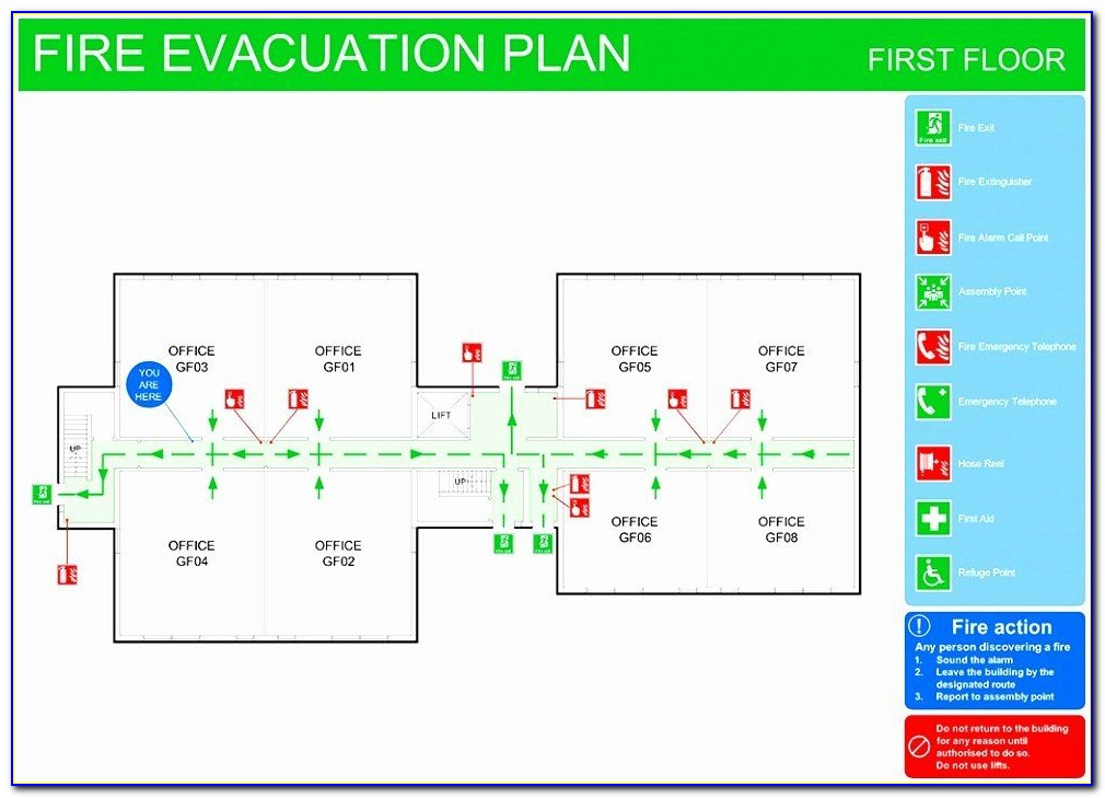 Fire Exit Plan Template Free