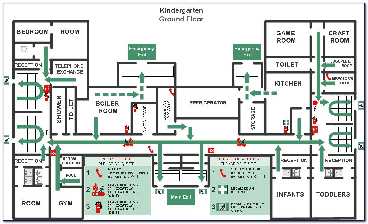 Fire Safety And Evacuation Plan Example