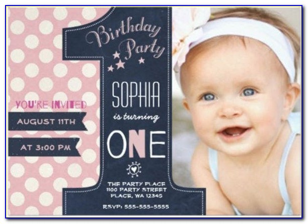 First Birthday Invitation Templates Free Download