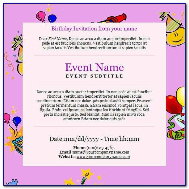 First Birthday Templates Invitations Free